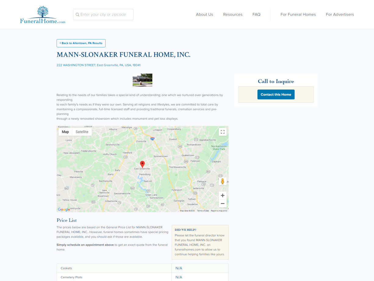 Listing Page